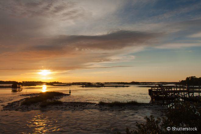 A Cedar Key é uma rústica vila pesqueira e colônia artística do Golfo do México, onde seus visitantes conseguem encontrar bastante calma e paz