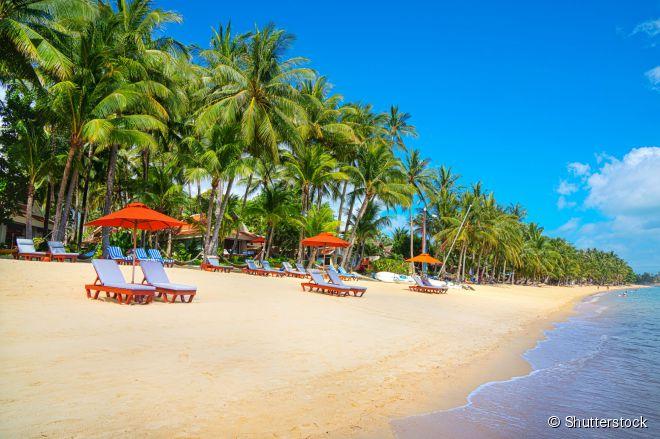Koh Samui, no Golfo da Tailândia, é uma das ilhas mais visitadas do país asiático