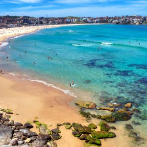 Bondi Beach é a praia mais famosa da Austrália