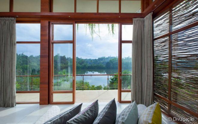O Tri, no Sri Lanka, oferece uma vista espetacular para o lago Koggala