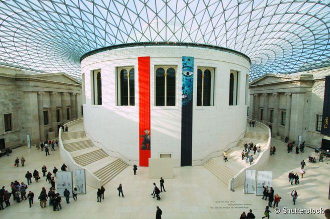 O Museu Britânico é um dos museus de Londres que não cobram ingresso de seus visitantes