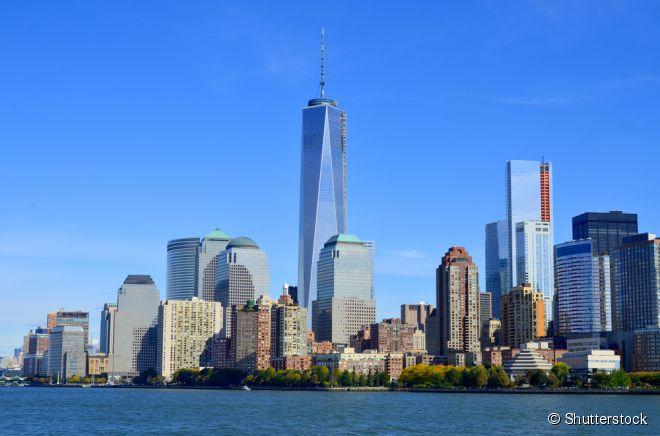 One World Trade Center (ao centro), em Nova York, foi eleito o melhor edifício das Américas