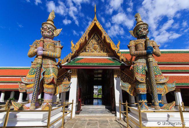 O Wat Pra Kaew é o mais sagrado de todos os templos da Tailândia