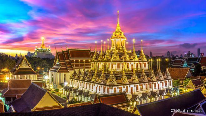 Loha Prasat (Wat Ratchanadda) e suas 37 torres metálicas