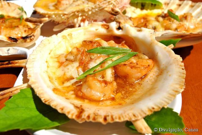 A maioria dos restaurantes de Maragogi serve frutos do mar, como o Caiuia