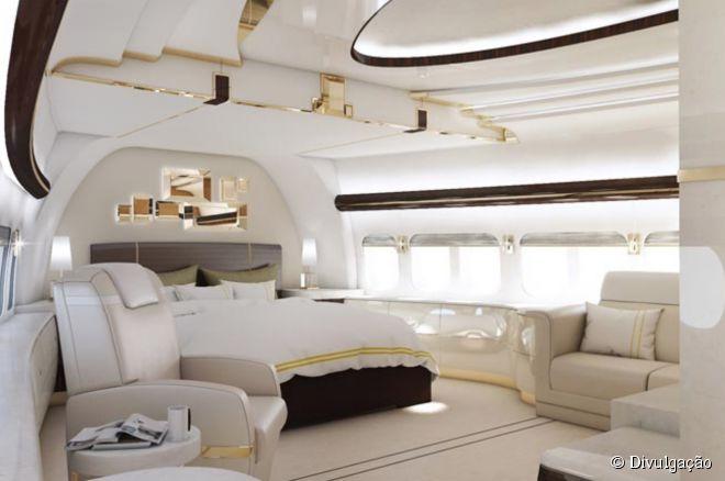 [Internacional] Boeing é transformado em avião de luxo deR$ 1,7 bilhões 22619-rodeada-de-janelas-com-uma-cama-660x0-2