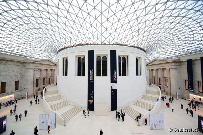 O Museu Britânico tem entrada gratuita para todos os visitantes