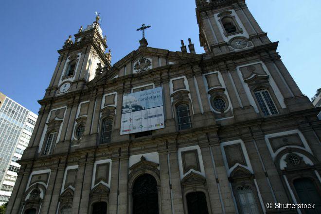 Igreja de Nossa Senhora da Candelária, uma das construções religiosas mais famosas do Rio de Janeiro