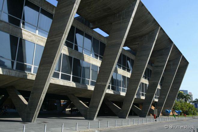 O Museu de Arte Moderna (MAM) fica no Aterro do Flamengo