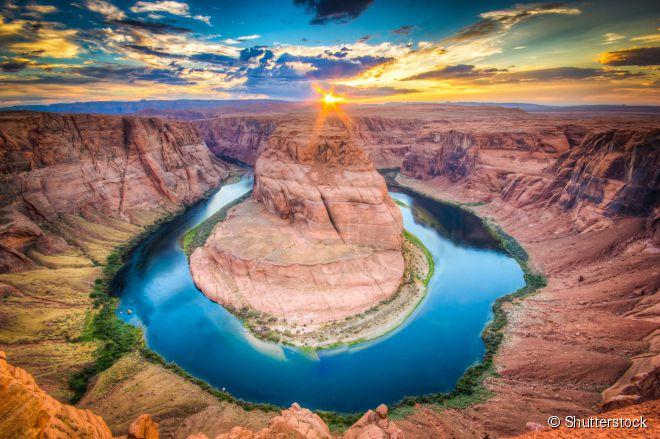 O Horseshoe Bend é um dos lugares mais conhecidos da região do Grand Canyon, nos Estados Unidos