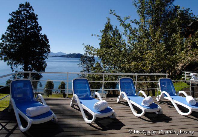Área externa com piscina do Charming Luxury Lodge & Private Spa