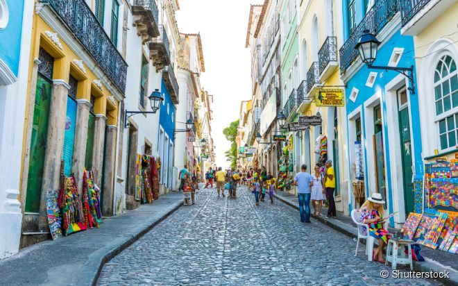 O Pelourinho é um dos lugares mais visitados do estado da Bahia