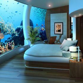 Hotéis que ficam embaixo d'água