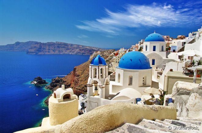 A ilha de Santorini, na Grécia, é um destino sem igual no mundo