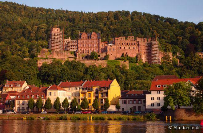 Grande cartão-postal de Heidelberg, o castelo é uma das ruínas mais famosas da Alemanha