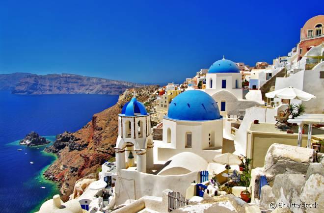 Santorini não poderia estar fora da lista! A ilha é considerada uma das mais belas do mundo!