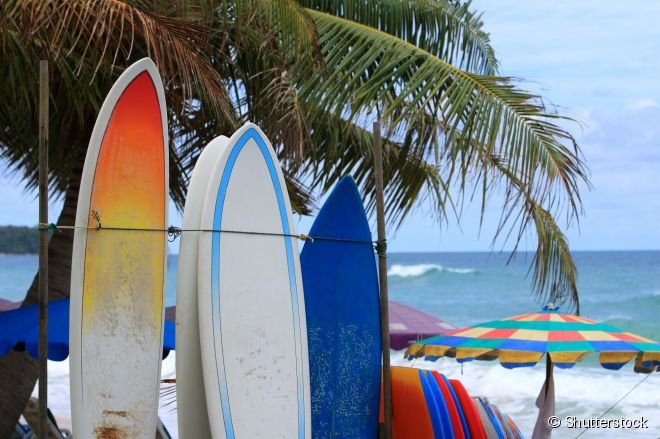 O surfe só se tornou popular na Tailândia na década de 1990
