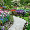 The Butchart Gardens, Colúmbia Britânica:  este conjunto de jardins canadenses recebe milhares de turistas anualmente. São mais de um milhão de plantas, divididas em cerca de 700 espécies que crescem neste espaço. O jardim foi criado em 1921, em uma pedreira por Jennie Butchart, com a ajuda do designer Isaburo Kishida. Até hoje é propriedade dos Butcharts. Está aberto ao público diariamente, das 9h às 17h
