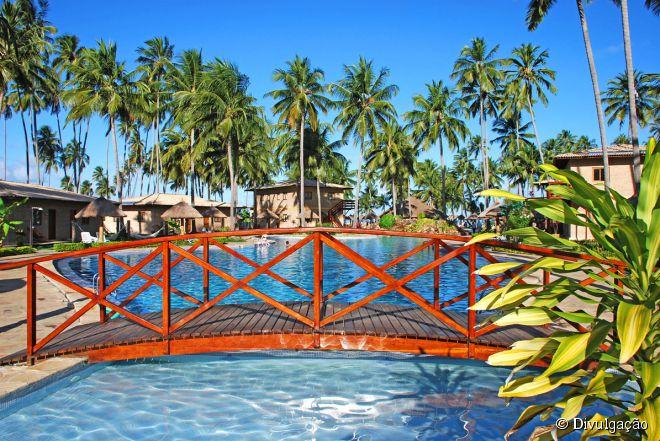 Ótimo para férias em família, o Grand Oca Maragogi Resort oferece lazer para todas as idades