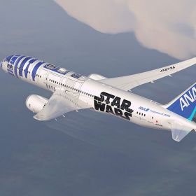 """Star Wars"" vira tema de avião da japonesa All Nippon Airways"